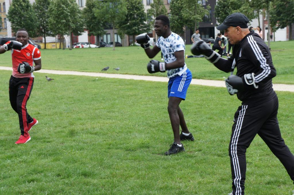 sportende jongeren